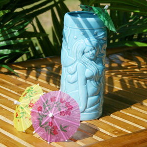 Blue Mermaid Ceramic Tiki Mug 14oz / 415ml