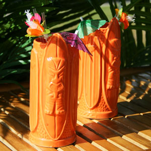Surf Style Tiki Mug Orange 16oz / 470ml