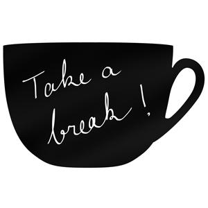 Coffee Cup Silhouette Chalk Board