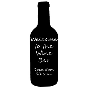 Wine Bottle Silhouette Chalk Board