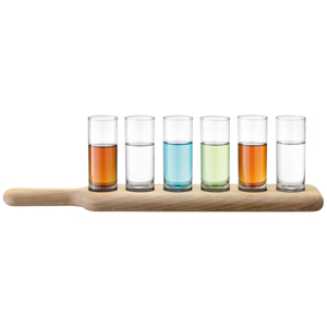 LSA Paddle Vodka Set & Oak Paddle
