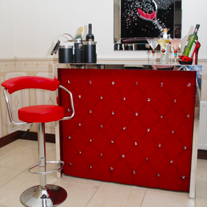Rich Ruby Red Diamanté Home Cocktail Bar