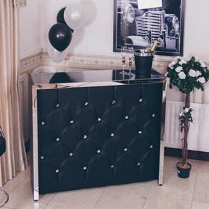 Decadent Black Diamanté Home Cocktail Bar