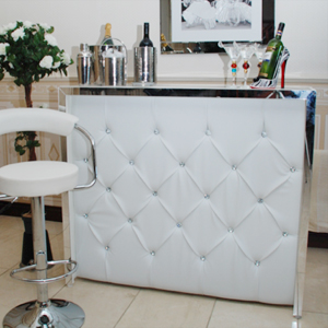 Crystal White Diamanté Home Cocktail Bar
