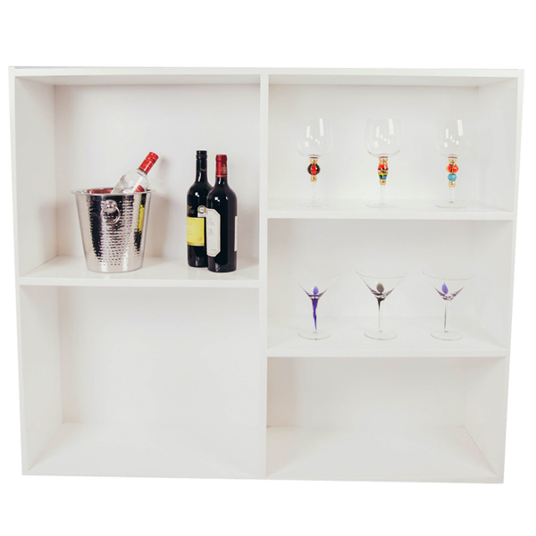 Home Bars For The Casual Drinkers: Crystal White Diamanté Home Cocktail Bar