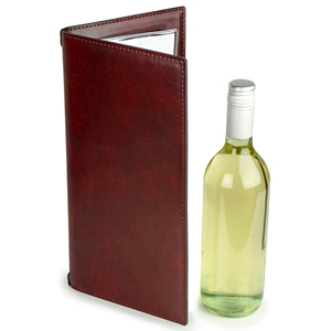 Douglas Wine Menu Cover Burgundy 12x6inch