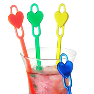 Heart Spoon Cocktail Stirrers