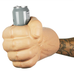 The Beast Giant Fist Beer Koozie Can Holder