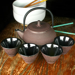 Japanese Cast Iron Tea Set