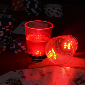 Flashing Dice Shot Glass 1.9oz / 55ml