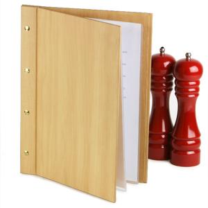 Wood Effect Menu Cover A4 Pine