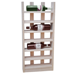 Scallop Wine Rack Pine 6 Bottle