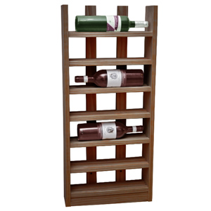 Scallop Wine Rack Weathered Oak 6 Bottle