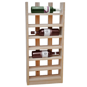 Scallop Wine Rack Light Oak 6 Bottle