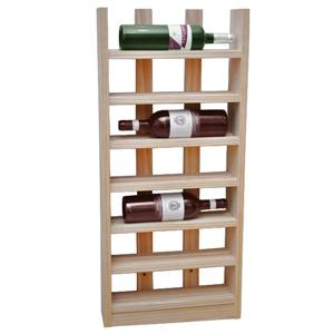 Scallop Wine Rack Light Oak 6 Bottle