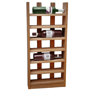 Scallop Wine Rack Dark Oak 6 Bottle