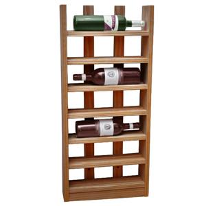 Scallop Wine Rack Dark Oak 6 Bottle