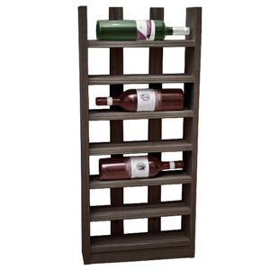 Scallop Wine Rack Black Ash 6 Bottle
