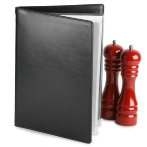 Douglas Menu Cover A4 Black
