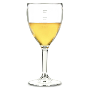 Elite Premium Polycarbonate Wine Glasses 11oz LCE at 125ml, 175ml & 250ml