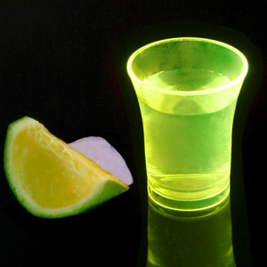 Econ Neon Yellow Polystyrene Shot Glasses CE 0.9oz / 25ml