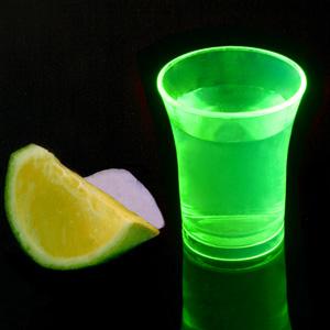 Econ Neon Green Polystyrene Shot Glasses CE 0.9oz / 25ml