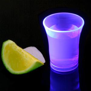 Econ Neon Purple Polystyrene Shot Glasses CE 0.9oz / 25ml