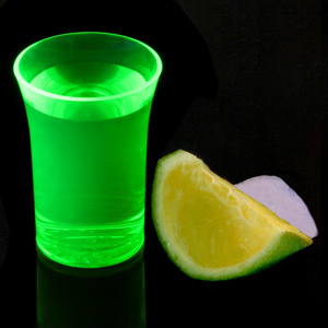 Econ Neon Green Polystyrene Shot Glasses CE 1.25oz / 35ml