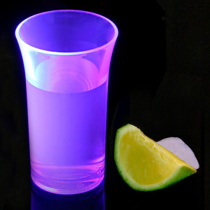 Econ Neon Purple Polystyrene Shot Glasses CE 1.75oz / 50ml