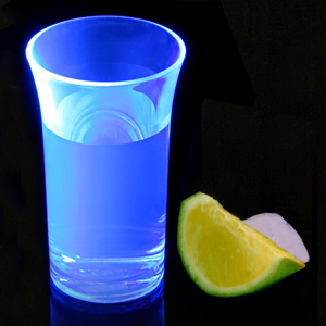 Econ Neon Blue Polystyrene Shot Glasses CE 1.75oz / 50ml