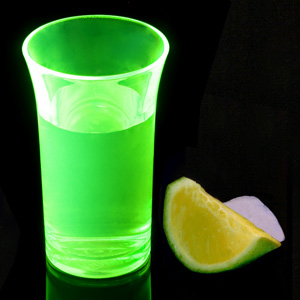 Econ Neon Green Polystyrene Shot Glasses CE 1.75oz / 50ml