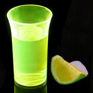 Econ Neon Yellow Polystyrene Shot Glasses CE 1.75oz / 50ml