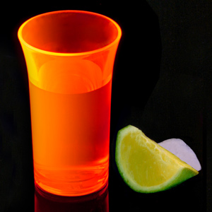 Econ Neon Orange Polystyrene Shot Glasses CE 1.75oz / 50ml
