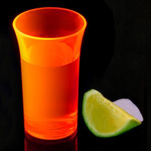 Econ Neon Orange Polystyrene Shot Glasses CE 1.75oz / 50ml