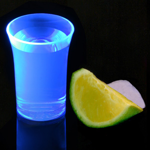Econ Neon Blue Polystyrene Shot Glasses CE 1.25oz / 35ml