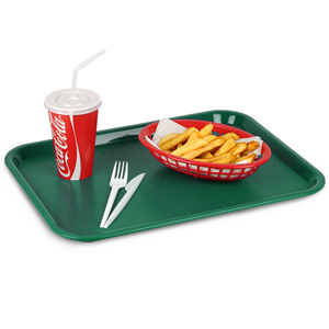 Fast Food Tray Medium Forest Green 12 x 16inch