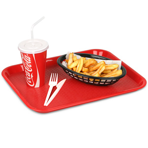Fast Food Tray Small Red 10 x 14inch