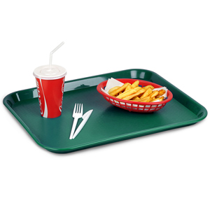 Fast Food Tray Large Forest Green 14 x 18inch