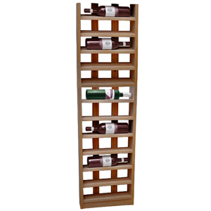Scallop Wine Rack Dark Oak 12 Bottle