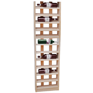 Scallop Wine Rack Light Oak 12 Bottle