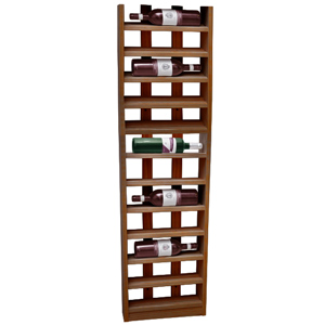 Scallop Wine Rack Weathered Oak 12 Bottle