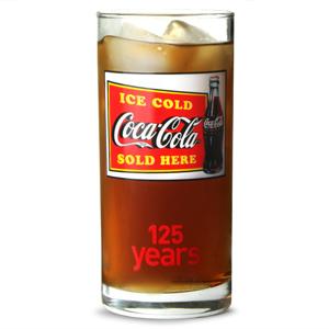 Coca Cola 125th Anniversary Hiball Glass 9.2oz / 260ml