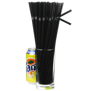 Alcopop Bendy Straws 10.5inch Black