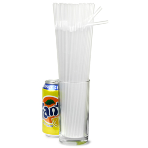 Alcopop Bendy Straws 10.5inch Clear