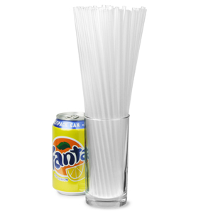 Alcopop Straight Straws 10.5inch Clear