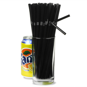 Bendy Straws 8inch Black