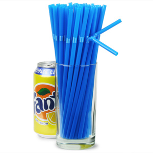 Bendy Straws 8inch Blue