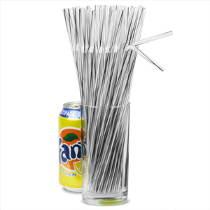 Bendy Straws 9.5inch Clear Spiral