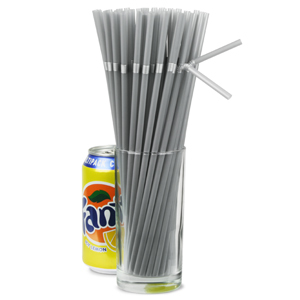 Bendy Straws Silver 9.5inch
