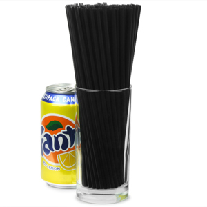 Collins Straws 8inch Black 20 Boxes Of 1000